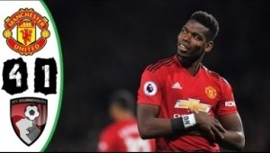 Manchester United vs Bournemouth 4-1 All Goals and Highlights EPL 30/12/2018